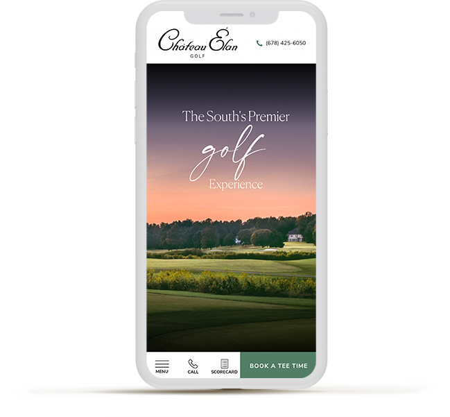 iphone11 with a golf website