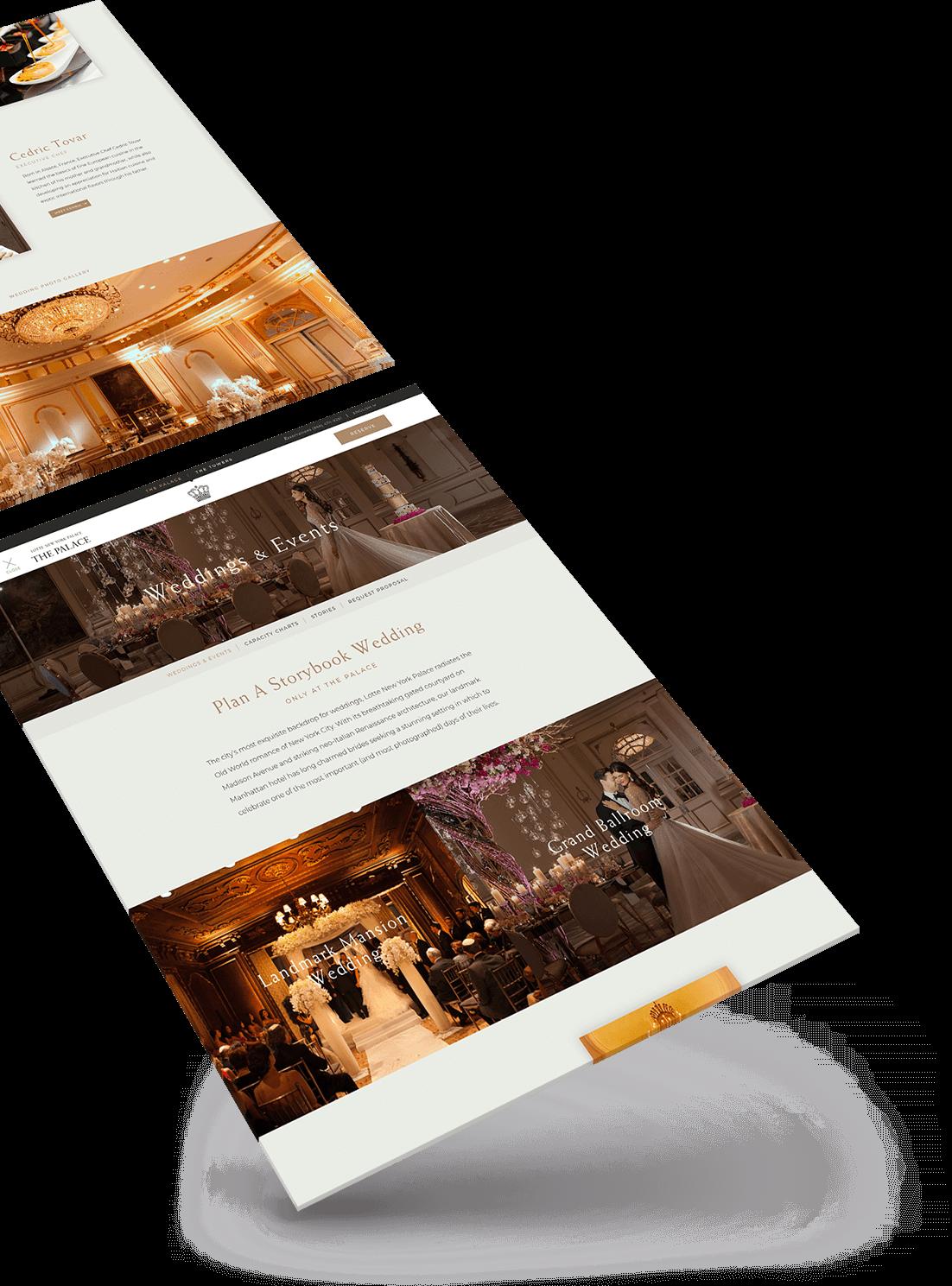 hotel wedding page