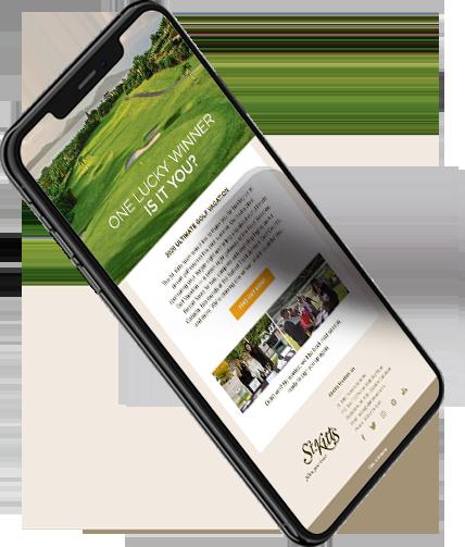 iPhone device showing Pueblo Bonito Resorts website